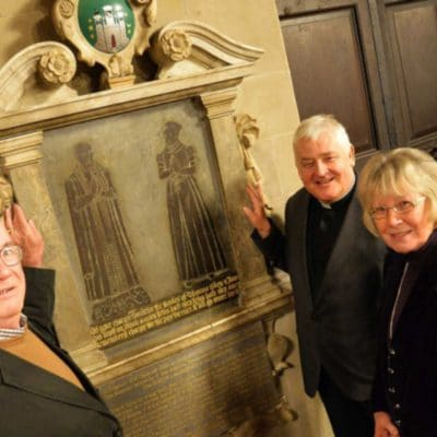 Trustees with The Revd Vaughan Roberts at St Mary's Church, Warwick