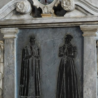 Memorial to Thomas Oken and his wife, Joan, in St Mary's Church, Warwick
